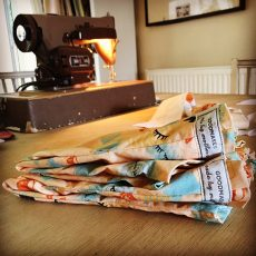 Sewing on a 1950's Singer sewing machine!